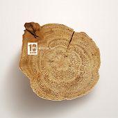 picture of handicrafts  - Vector Wooden Log - JPG