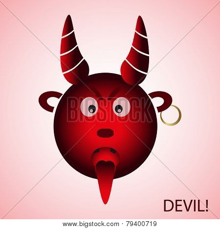 Red Evil Cartoon Devil From Hell Eps10