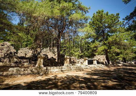 Ancient Phaselis's ruins.