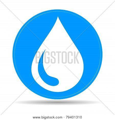 Water Icon, Vector Illustration. Flat Design Style