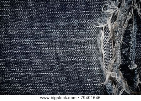 The part of jeans texture lack for the background