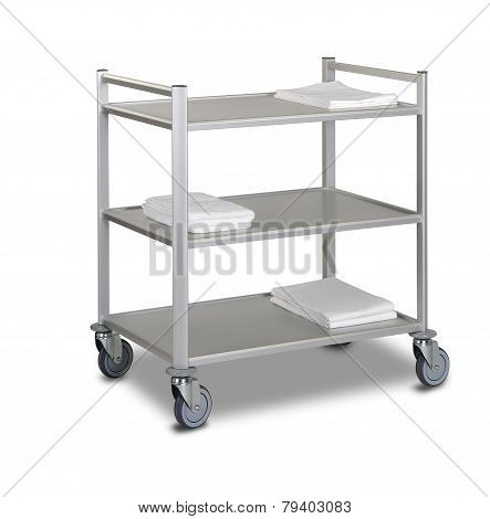 The Hotel Cleaning Tool Cart Isolated