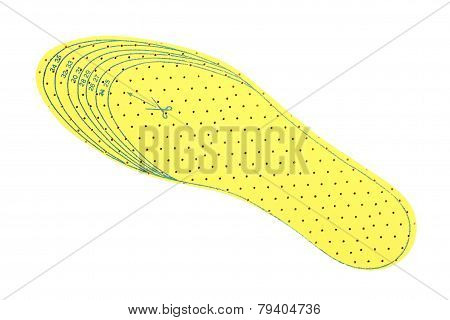 Yellow Shoe Insole