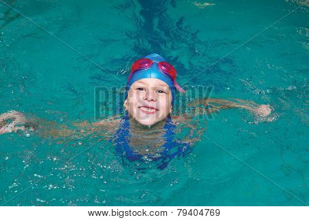 Girl Start To Swimming Pool