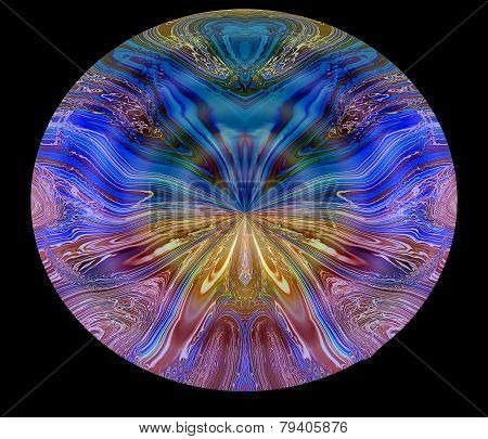 illustration of vibrant rays on a black background