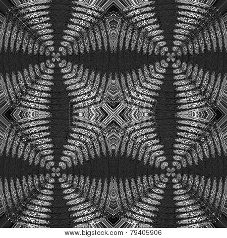 Fancy black and white illustration