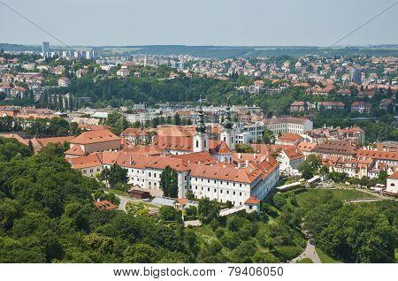 Strahov Monastery Aerial View