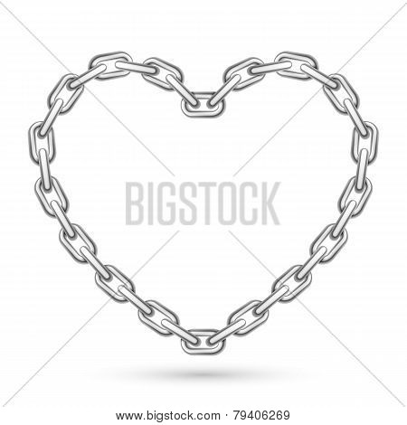 Metal Heart Shaped Chain