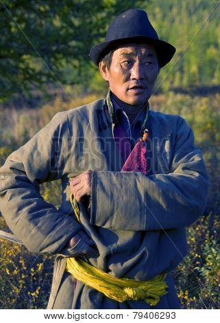 Reindeer Herdsman, Northern Mongolia. see similar images.