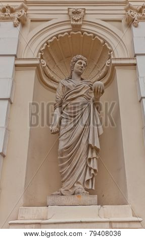 Sculpture Of Urania On Main Gate Of Warsaw University, Poland