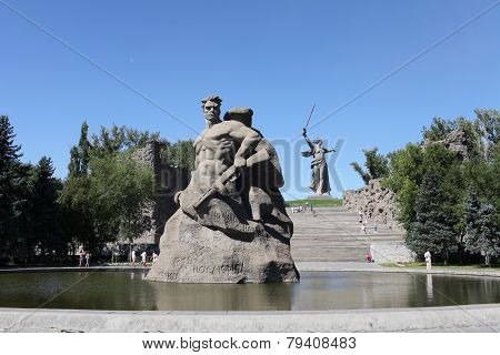 Monument to soldiers to the defenders  of Stalingrad