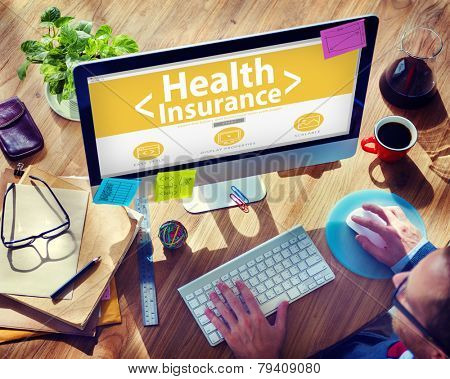 Health Insurance Medical Wellness Business Concept