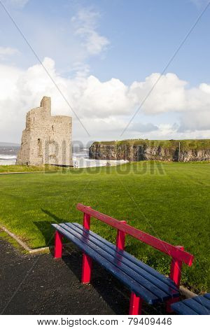 Benches With Views Of Ballybunion Castle And Coast