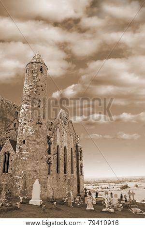 Rock Of Cashel In Sepia