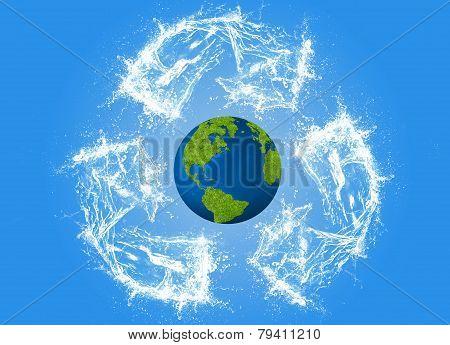 Ecology concept, eco, digital art