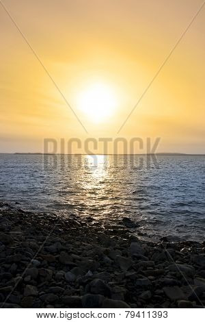 Rocky Sunset Beach At Beal