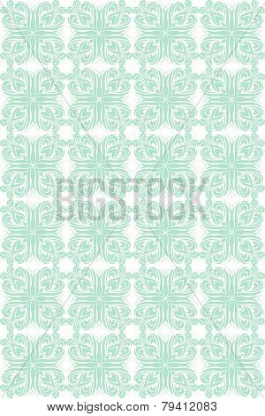Simple Blue And White Geometric Vector Pattern