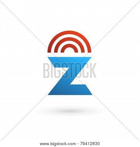 Letter Z Wireless Logo Icon on white