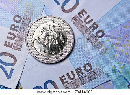 2 Euro Coin Of Lithuania