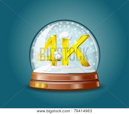 Format 4K In Snow Globe.
