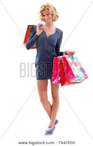 Fullbody Shopping Woman
