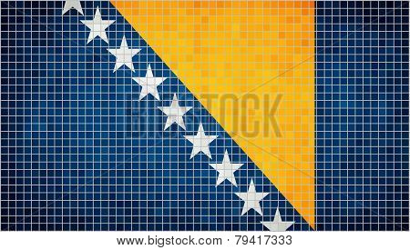 Abstract Mosaic flag of Bosnia and Herzegovina
