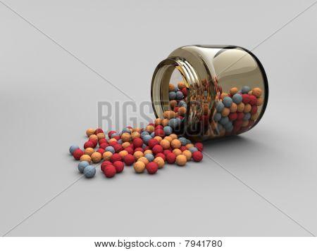 Jar with Radiation Balls
