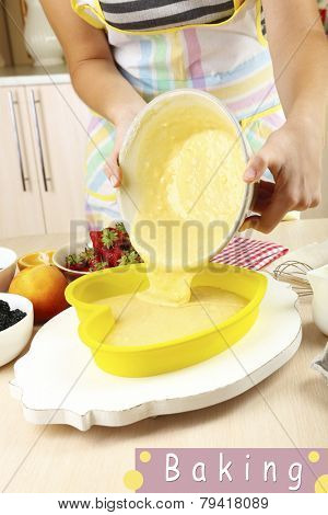 Baking tasty pie, Home Baking concept