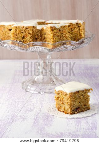 Carrot, Apple, Cranberry And Banana Cake