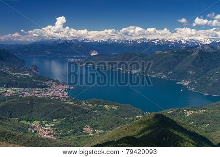 Lago Maggiore As Seen From Monte Lema