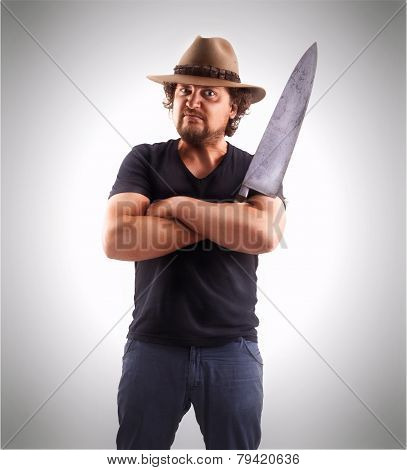 Man With Big Knife