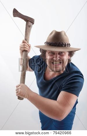 Angry Man With Ax