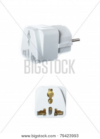 Close Up Universal American To European Travel Adapter Converter Plug