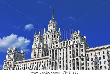 Stalin's Empire Style Building In Moscow