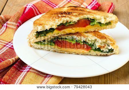 Toasted Sandwich With Cheese, Tomato