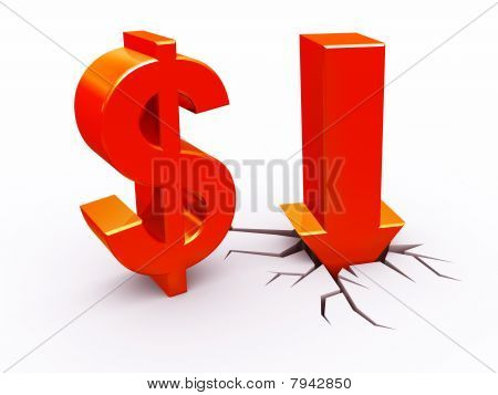 Dollar down