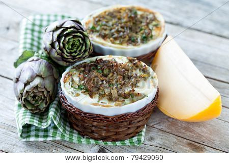 Casseroles With Vegetable Flans