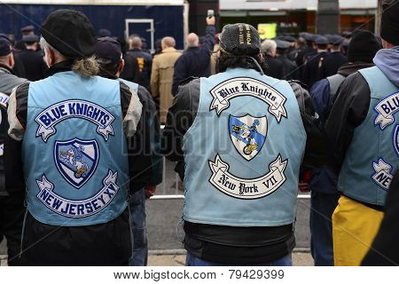 Police motorcycle club members