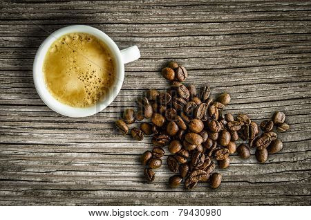 Retro Espresso And Coffee Beans