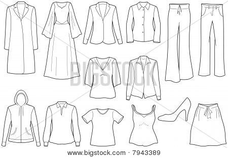 Women's clothes illustration