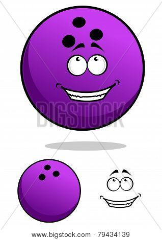 Lucky Cartooned Bowling Ball