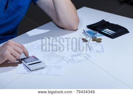 Unpaid Bills On The Desk
