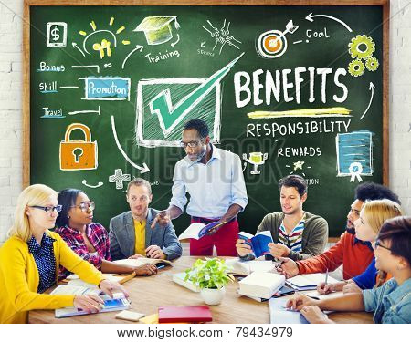 Benefits Gain Profit Earning Income Education Learning Concept