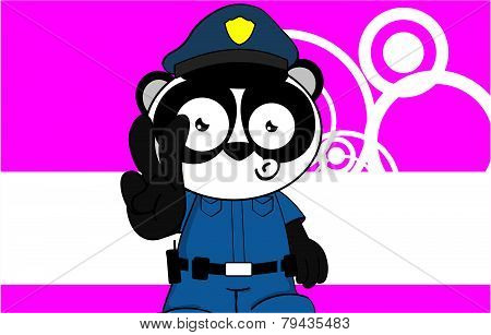 panda bear cop cartoon background