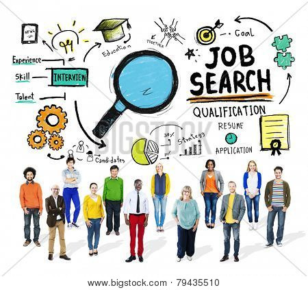 Ethnicity Business People Career Job Search Concept