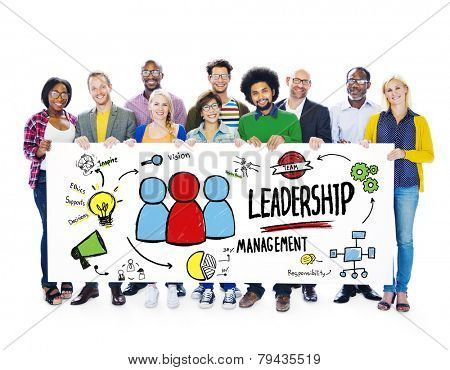 Diversity Casual People Leadership Management Banner Team Support Concept