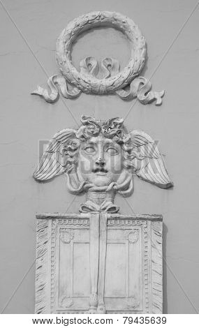 Bas-relief On A Building In The Center Of St.petersburg.