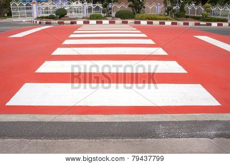Red Zebra Crossing