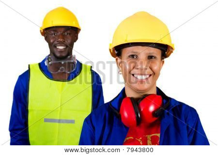 happy construction workers