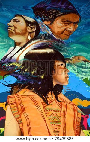 Street art Montreal indians